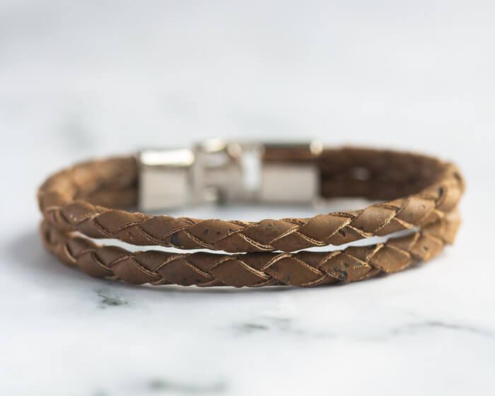 bracelet men brown, cuff bracelet