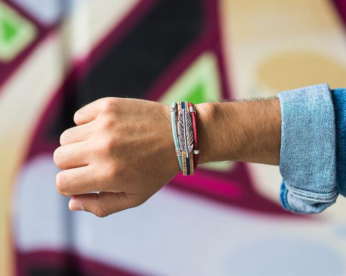 Vegan Feather bracelet