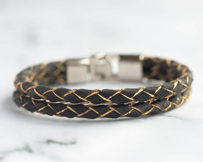 black vegan bracelet men