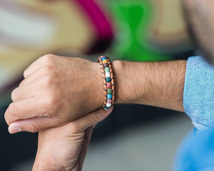gemstone bracelet, beaded bracelet, gemstone jewelry, lava bracelet,