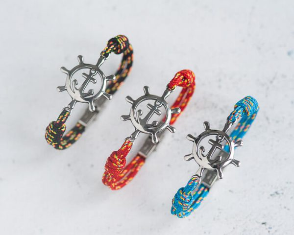 Rudder bracelet, rope bracelet men