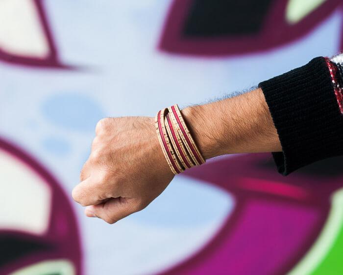 red vegan bracelet