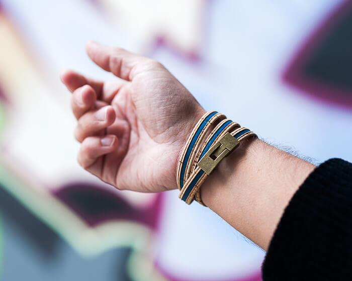 vegan wrap bracelet, cork jewelry-4